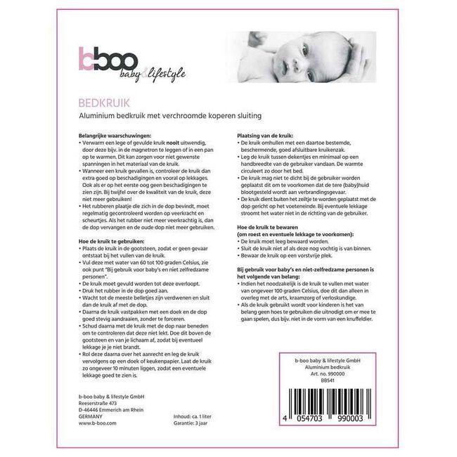 b-boo aluminium bedkruik - White