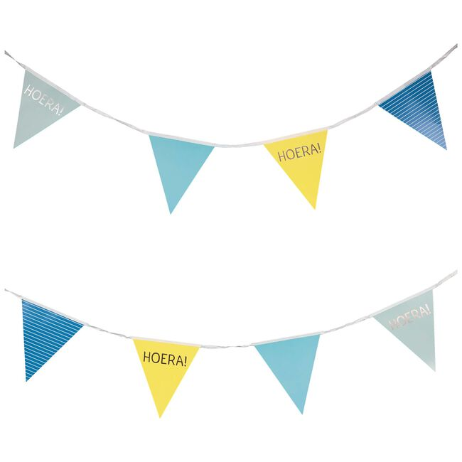 Prenatal vlaggenlijn hoera - Blue