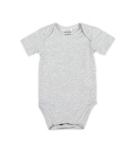 492d83ca284bc4 Prenatal unisex romper - Grey Melee Light