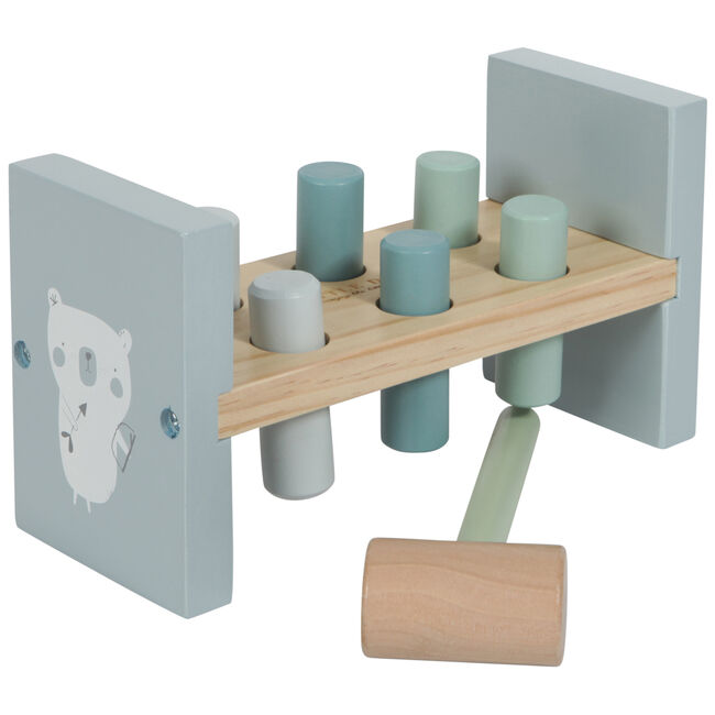 Little Dutch houten hamerbankje - Blue