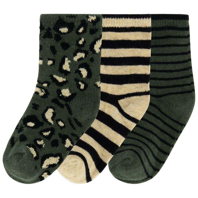 Prénatal jongens sokken 3 stuks - Darkgreen
