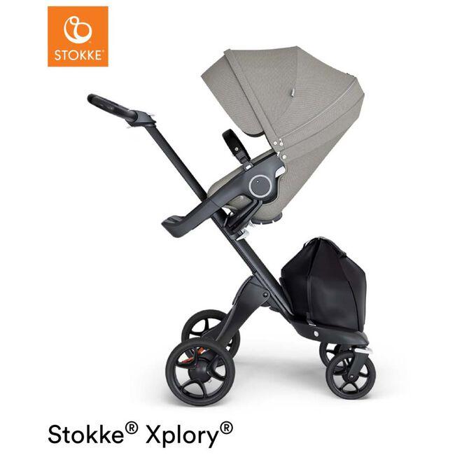 Stokke Xplory V6 Brushed - Brushed Grey (Brown Leather)