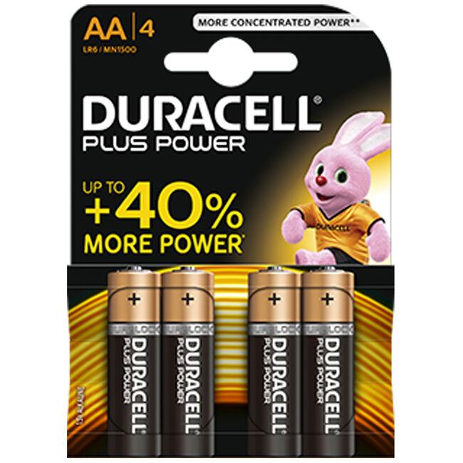Duracell batterijen AA 4-pack Alkaline - Black