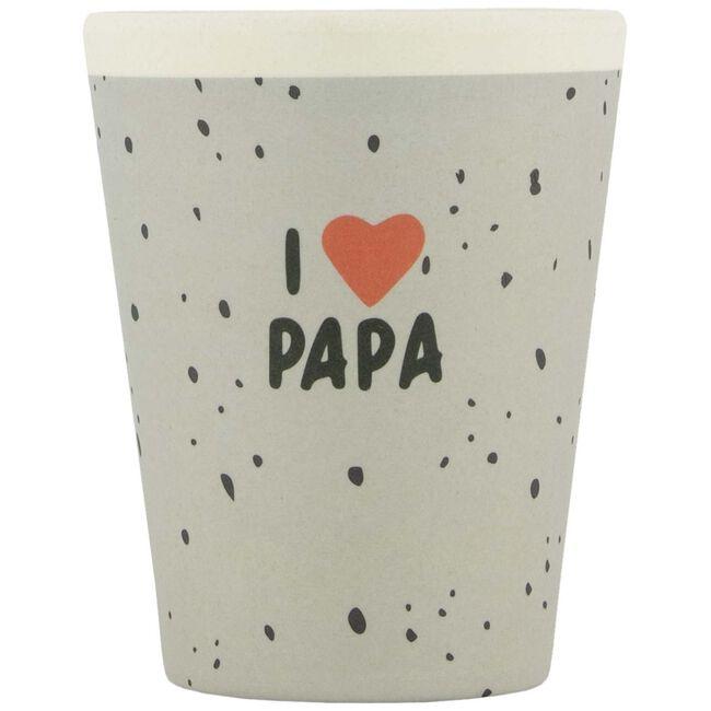 Prenatal bamboe mok I Love Papa - I love papa