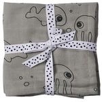 Done by Deer Sea Friends multidoek 2 stuks - Grey