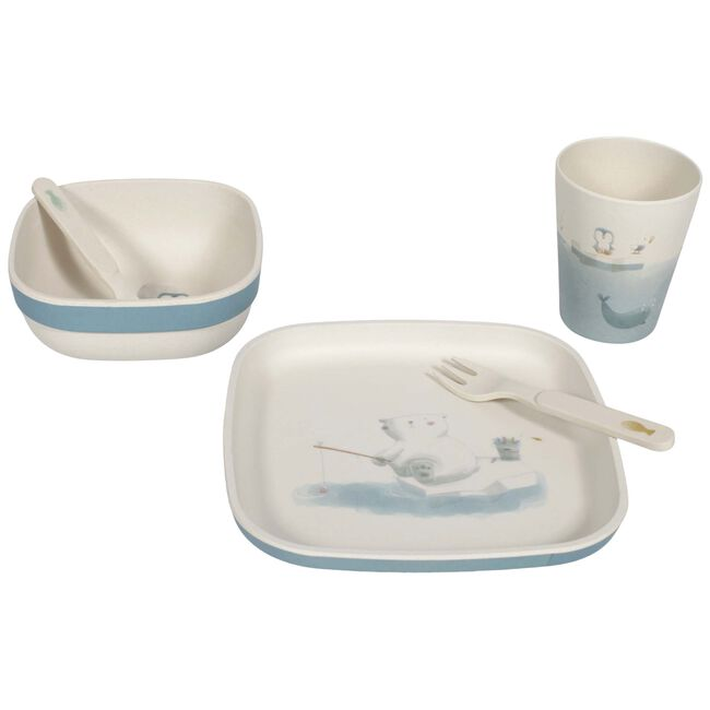 Little Dutch 5-delige eetset Polar - Blauw