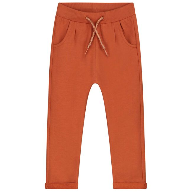 Prénatal peuter meisjes broek - Dark Orange Brown