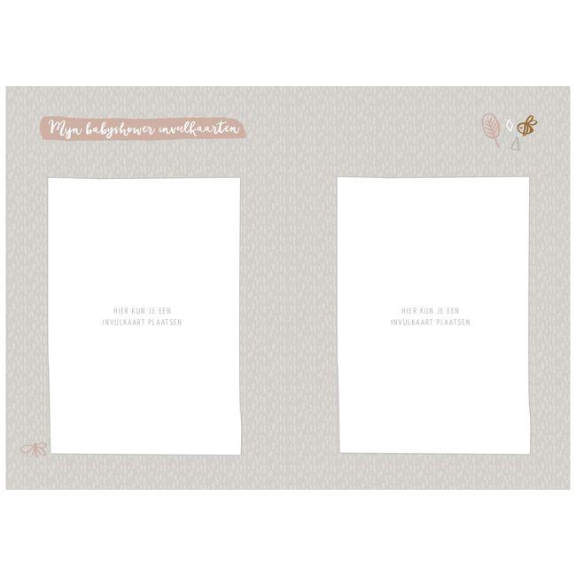 Maan mijn babyshowerboek met invulkaarten - Mintgreen