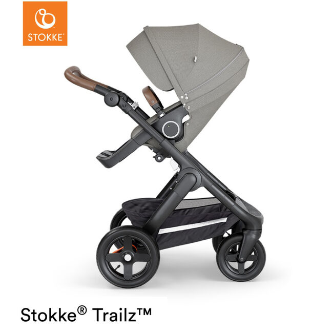 Stokke Trailz Brushed - Brushed Grey (Brown Leather)