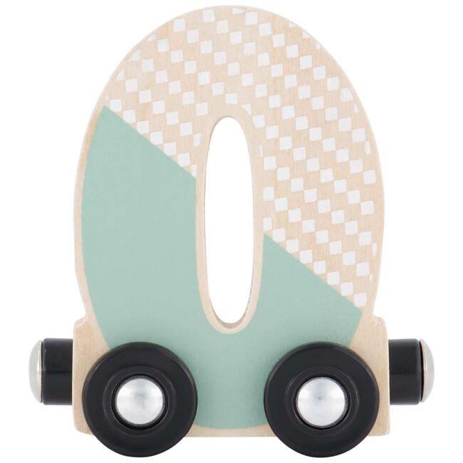 Prénatal houten namentrein letter O - Mint