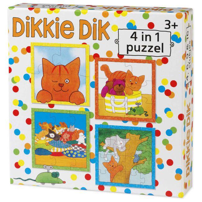 Dikkie Dik puzzel 4-in-1 - Multi