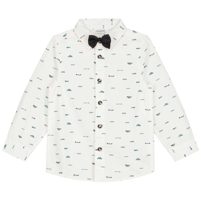 Prénatal baby jongens blouse - Ivoor Wit