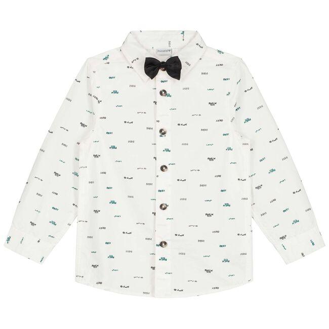 Prénatal peuter jongens blouse - Ivoor Wit