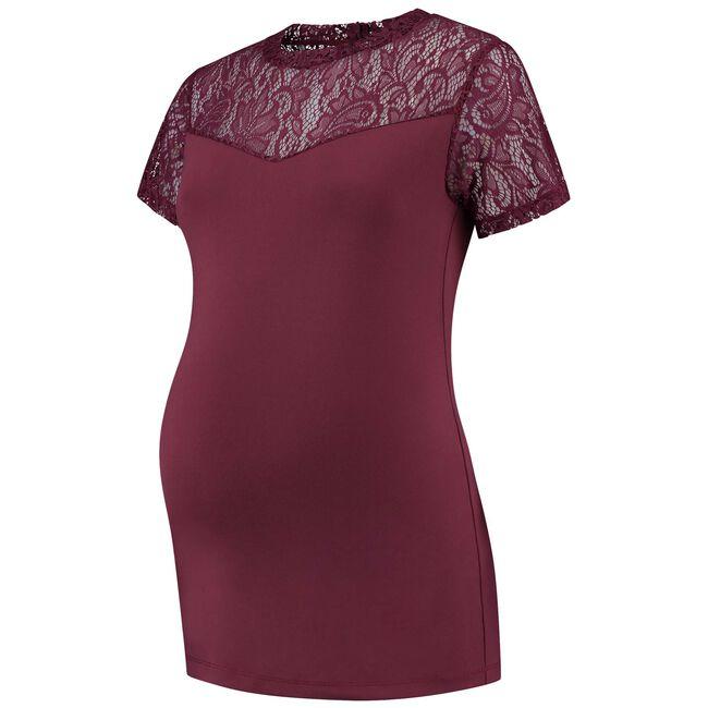 Prénatal zwangerschaps T-shirt - Dark Redshade