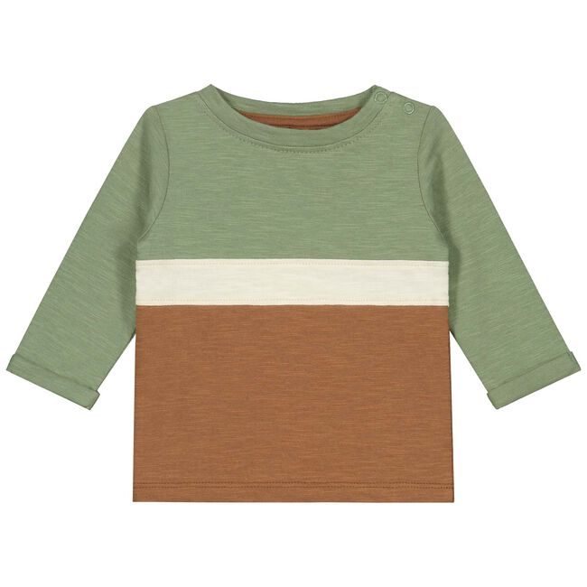 Prénatal baby jongens t-shirt - Light Khaki Green