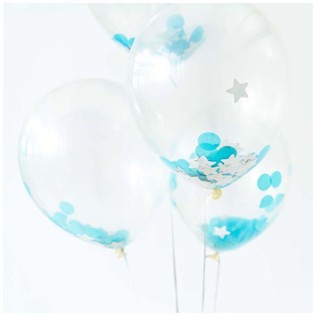 Prénatal ballonnen jongen 6 stuks - Blue