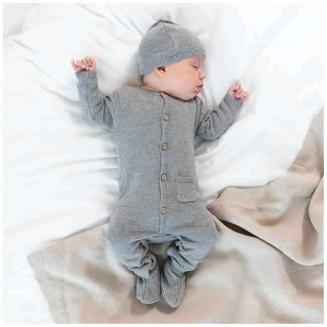 Prenatal newborn unisex mutsje - Cloud Grey Melange