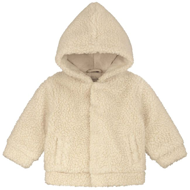 Prenatal newborn unisex teddy jas - Sandbrown