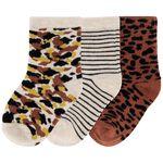 Prénatal jongens sokken 3 stuks - Light Brown Melange