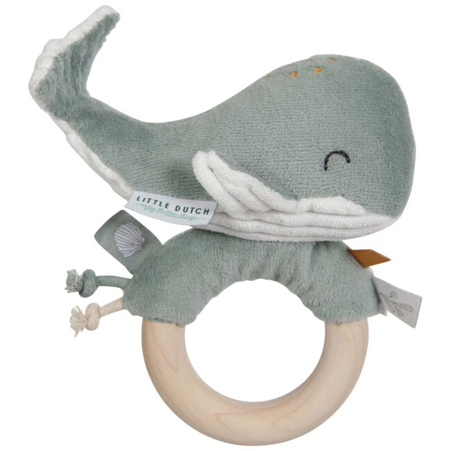 Little Dutch ringrammelaar walvis Ocean - Mintgreen