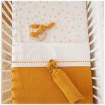 Prénatal Little Knits ledikant deken - Light Yellow Brown