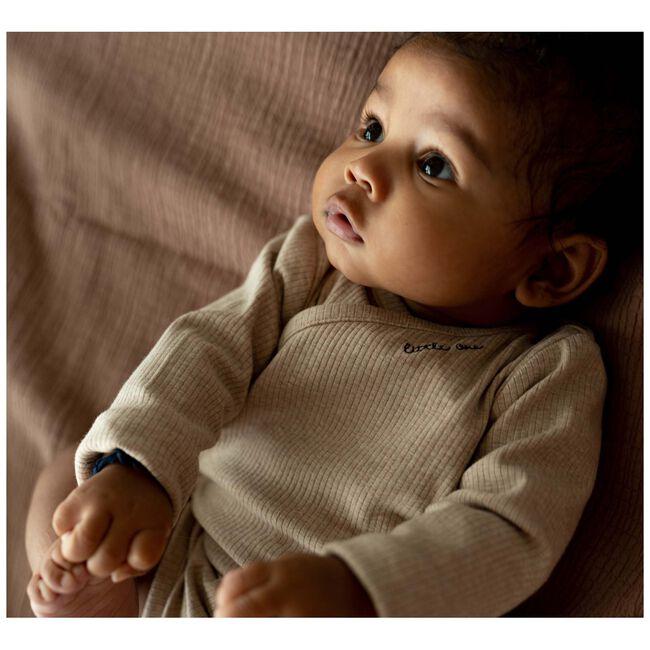 Prenatal newborn unisex romper rib -
