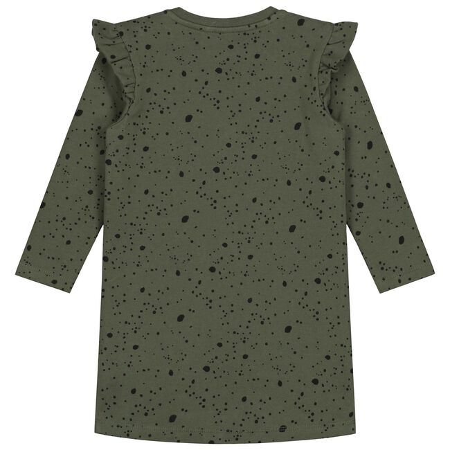 Prénatal peuter meisjes jurk - Olivegreen