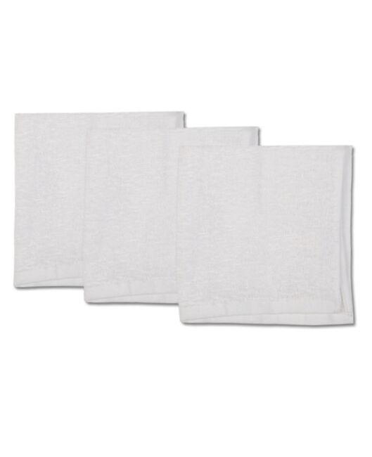 Prenatal spuugdoek badstof 3 stuks - White