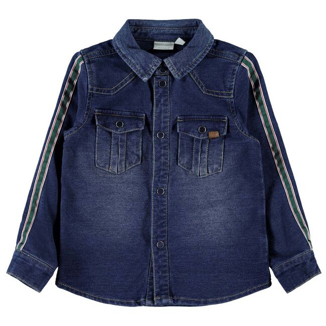 Name it peuter jongens blouse - Mid Blue Denim