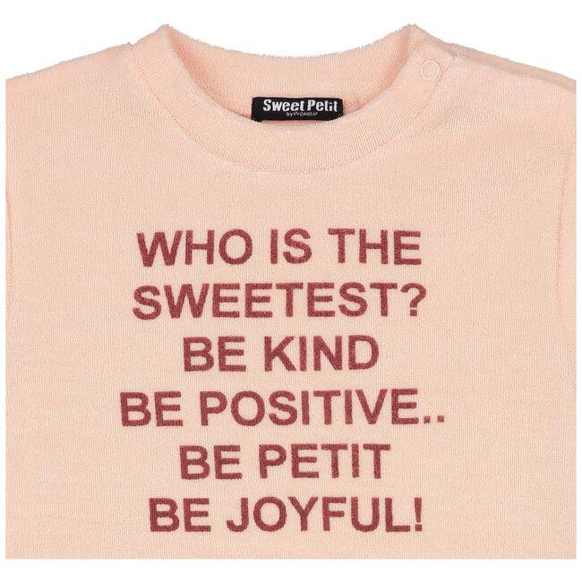 Sweet Petit peuter meisjes shirt - Salmon