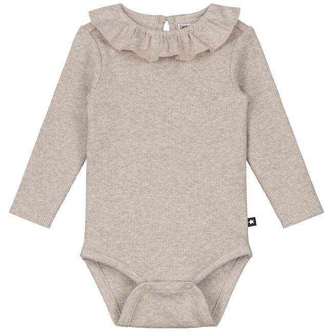 Sweet petit baby top Elin - Mid Ecru Melange