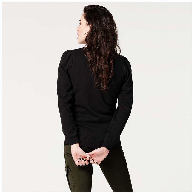 Supermom zwangerschaps sweater - Black