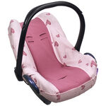 Dooky seatcover 0+ by Prenatal - Pink Heart