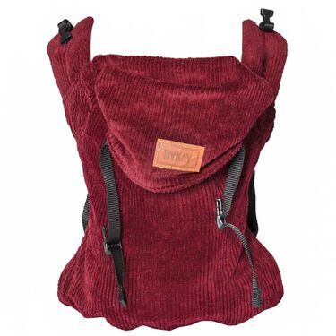 ByKay Click Carrier Classic ribbed velvet - Berry Red