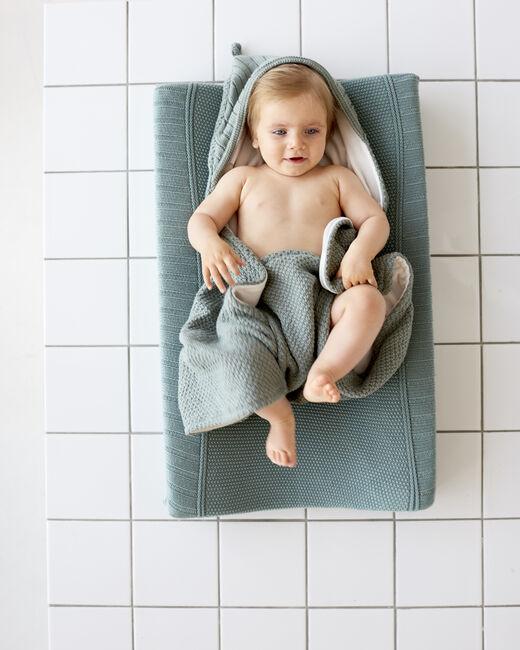 Prenatal wikkeldeken gebreid - Green Shade