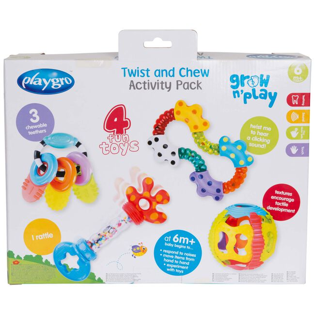 Playgro twist and chew activity pack - Multi