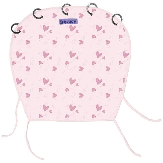 Dooky cover zonnescherm by Prenatal - Pink Heart