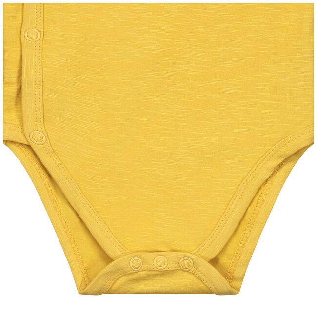 Prénatal newborn unisex overslag romper geel - Midyellow
