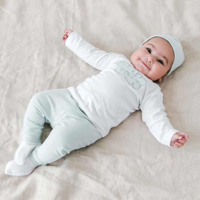 Prénatal newborn unisex shirt met tekst - White