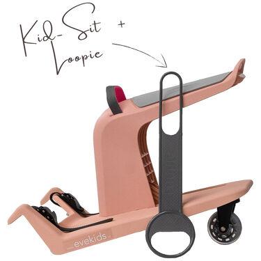 KidSit sweet pink + Loopie grijs -