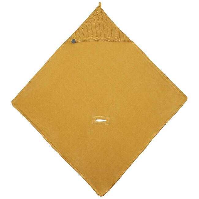 Prénatal wikkeldeken Little Knits - Light Yellow Brown
