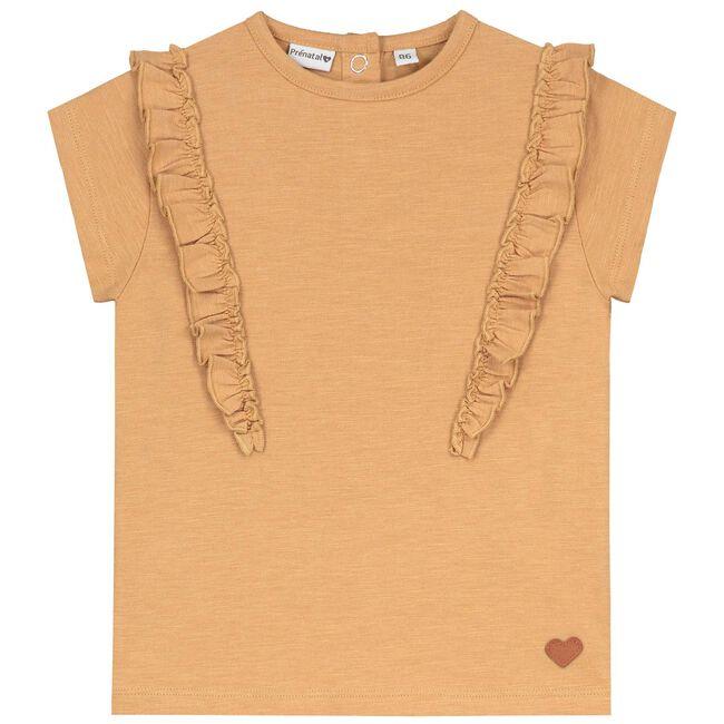 Prénatal peuter meisjes T-shirt - Mid Brown Melange