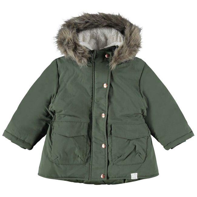 Name it peuter meisjes jas - Darkgreen