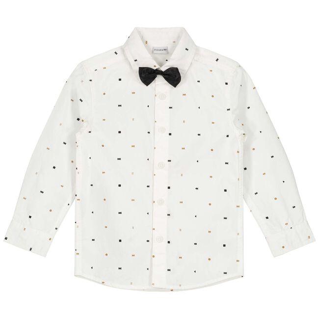 Prénatal peuter jongens overhemd - Ivoor Wit