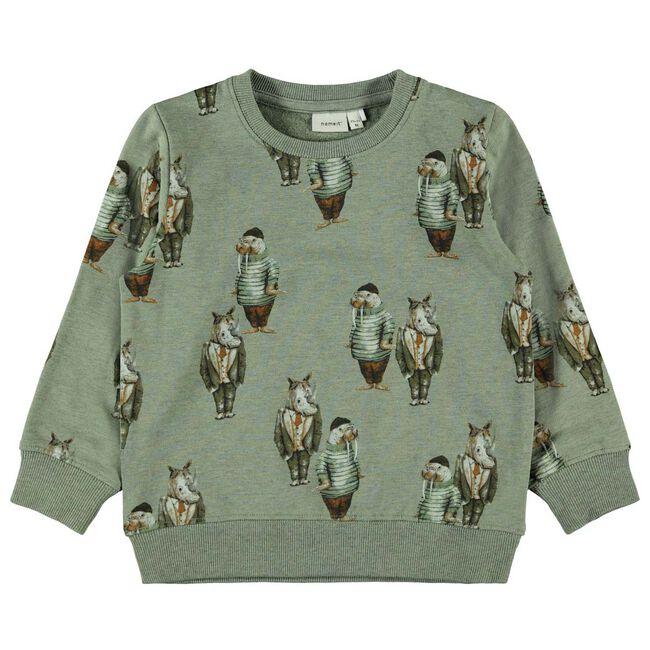 Name it peuter jongens sweater - Green
