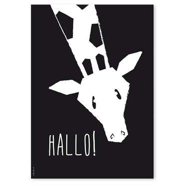 Studio Circus A4 poster giraffe -