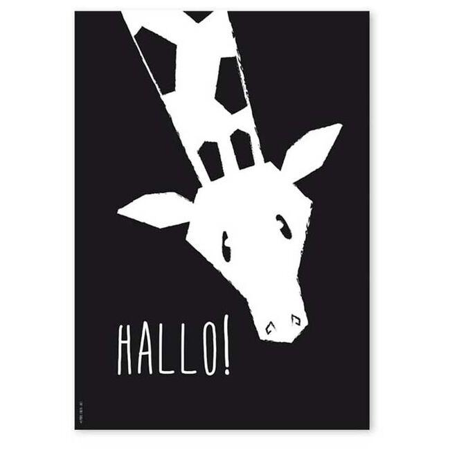 Studio Circus A4 poster giraffe - Black