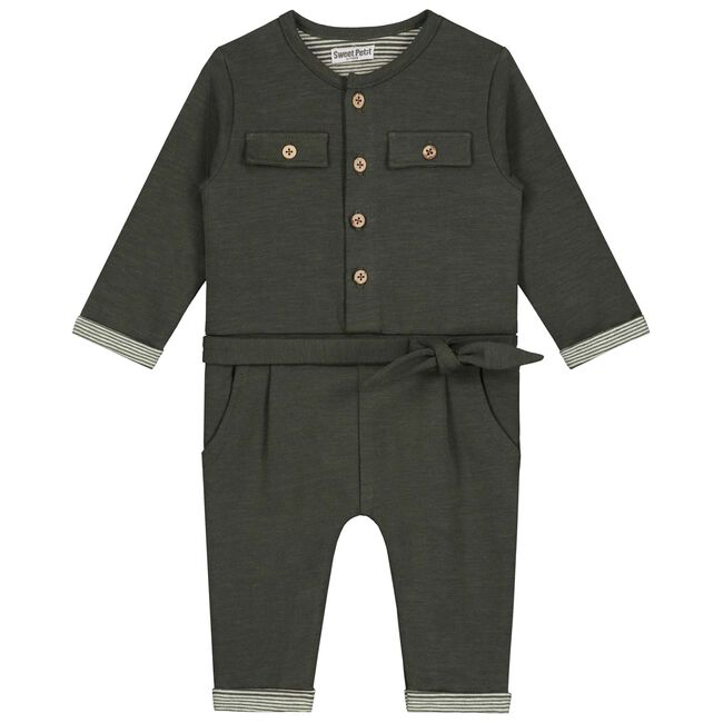 Sweet Petit baby meisjes jumpsuit Maey - Black/Brown