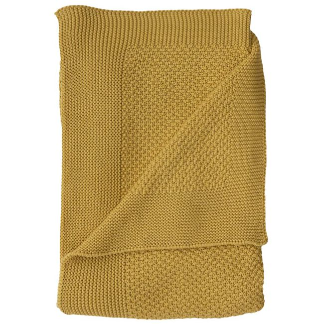Prénatal ledikantdeken gebreid geel - Spice Yellow