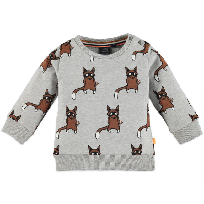 Babyface jongens sweater - Grey Melee Light